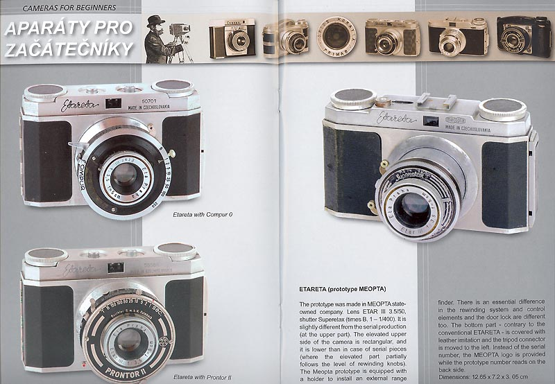Czech cameras for beginners II Etareta Vega Corina Lord in